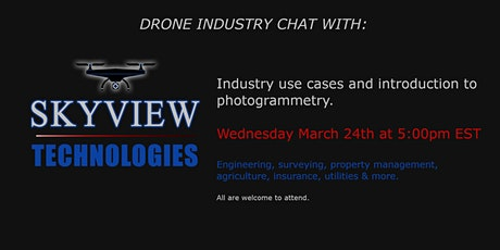 Monthly drone chat with SkyView Technologies tickets