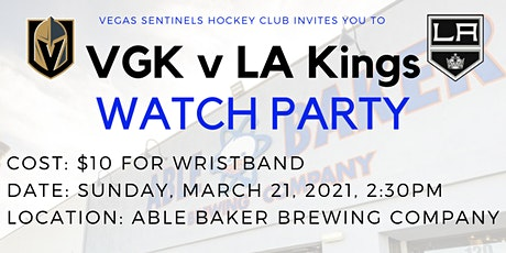 Vegas Golden Knights v LA Kings: a Sentinels Hockey Club Watch-Party tickets