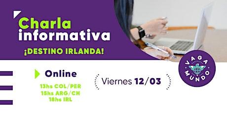 Taller de capacitación /  Work & Study Irlanda / VAGA-MUNDO entradas