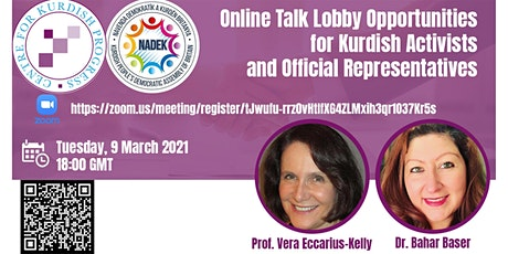Lobby Opportunities for Kurdish Activists and Official Representatives tickets