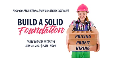 Build a Solid Business Foundation: Pricing, Profit and Hiring tickets