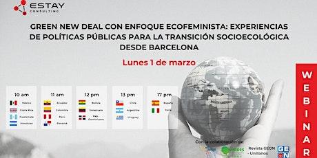 Green Deal:  Ecofeminismo en las Polítcas Públicas entradas