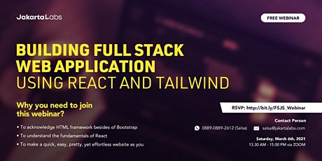 [FREE WEBINAR] Building Full Stack Web Application using React and Tailwind tickets