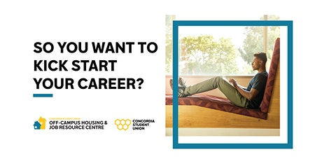 So you want to kick-start your career? tickets