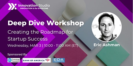 Goal Setting: Creating the Roadmap for Startup Success with Eric Ashman tickets