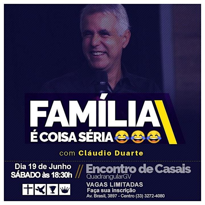 Imagem do evento ENCONTRO DE CASAIS COM CLAUDIO DUARTE - FAMÍLIA É COISA SÉRIA