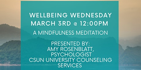 Wellbeing Wednesday: Mindfulness Meditation tickets