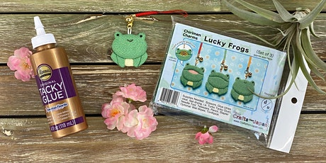 Lucky Frog Chirimen Charms- Pearl City tickets