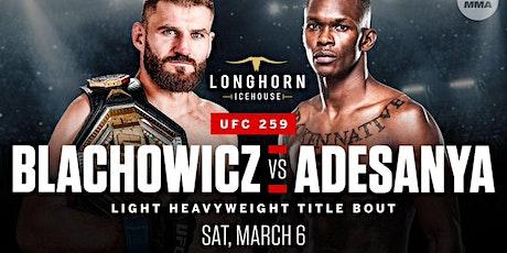"UFC 259: Blachowicz vs. Adesanya -168"" Jumbotron, 44 HD TVs, Surround Sound tickets"