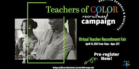 DIVERSITY in Ed Virtual Teacher Recruitment Fair tickets
