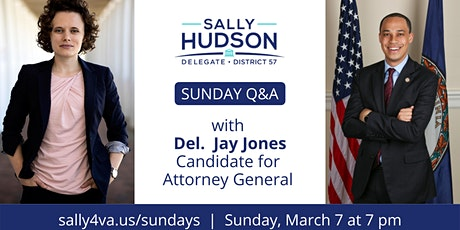 Sunday Q&A with Delegate Jay Jones tickets