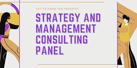Strategy and Management Consulting Panel Session tickets