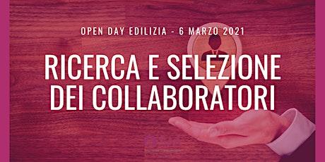 Open Day Edilizia - Selezione dei collaboratori biglietti