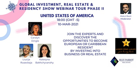 Global Investment, Real Estate & Residency Show II | USA tickets