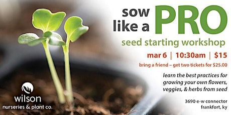 Sow Like a Pro | Mar 6 tickets