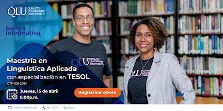 Sesión Informativa Maestría en Lingüística con especialización en TESOL entradas