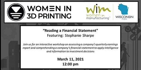North America Women in 3D Printing: Reading a Financial Statement tickets
