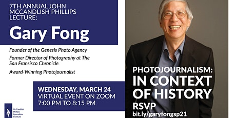 7th Annual John McCandlish Phillips Lecture with Photojournalist Gary Fong tickets