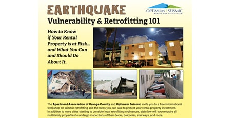 Seismic Retrofit Workshop with AAOC & Optimum Seismic tickets