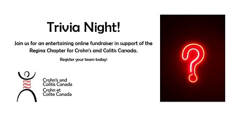 Trivia Night for the Regina Chapter of Crohn's and Colitis Canada tickets