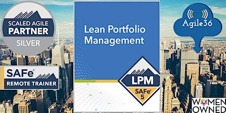 SAFe® Lean Portfolio Management (5.1) (Guaranteed to Run) tickets