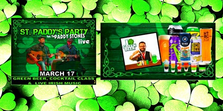 St Paddy's Day Virtual Party! Cocktail Class, Green Beer & Live Irish Music tickets