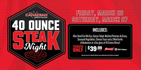 40oz Steak Night (Edmonton - Windermere) tickets