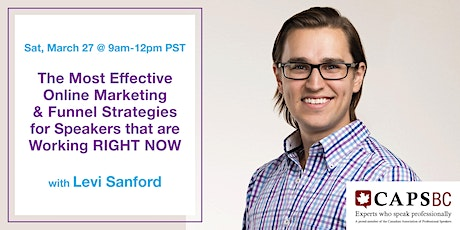Online Marketing & Funnel Strategies for Speakers  With Levi Sanford (Zoom) Tickets