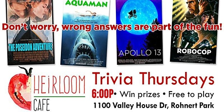 Thursday Trivia With Dinner! tickets