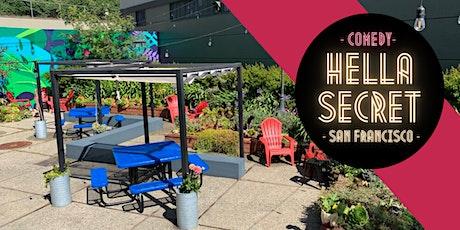 HellaSecret Outdoor Comedy Night + Chill Beer Garden tickets