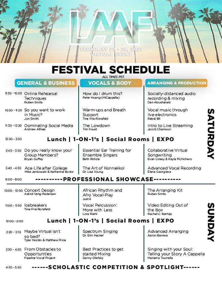 Virtual Event: Los Angeles A Cappella Festival 2021 image