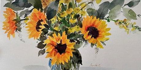 Sunflowers- watercolor painting workshops tickets
