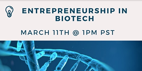 Entrepreneurship in Biotech tickets