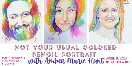 Not Your Usual Colored Pencil Portrait Workshop with Amber Marie Hunt tickets