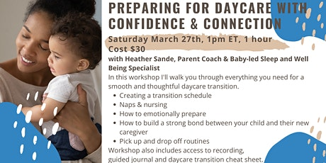 Preparing for Daycare with Confidence & Connection tickets