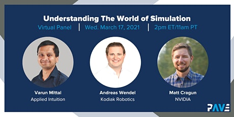 PAVE Virtual Panel: Understanding the World of Simulation tickets