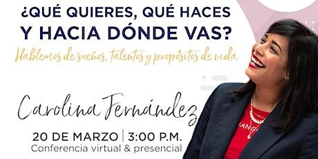 Conferencia (online) de Carolina Fernández en Emprende SDQ entradas