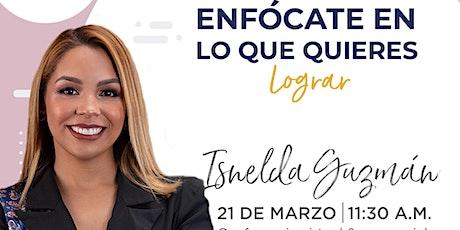 Conferencia de Isnelda Guzmán en Emprende SDQ entradas