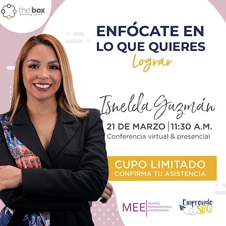 Imagen de Conferencia (online) de Isnelda Guzmán en Emprende SDQ