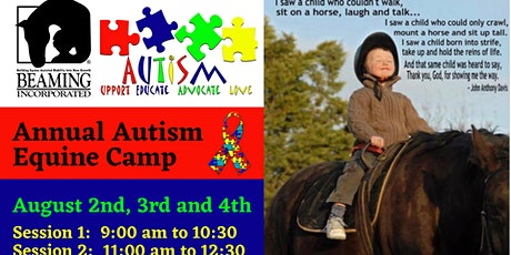 Beaming Inc's Equine Autism Camp 2021 Session 1 tickets