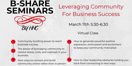 Leveraging Community for Business Success tickets