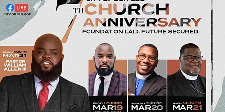City of Our God 7th Church Anniversary tickets