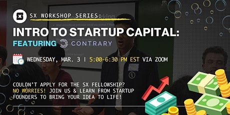 Introduction to Startup Capital with Contrary Capital tickets