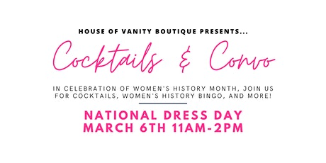 Women's History Month: Cocktails & Convos tickets