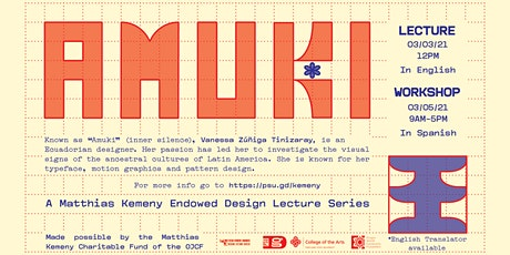 Matthias Kemeny Endowed Design Lecture Series Presents: Amuki tickets