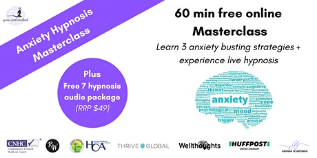 LIVE  Hypnosis Masterclass- reduce your anxiety & calm the mind tickets