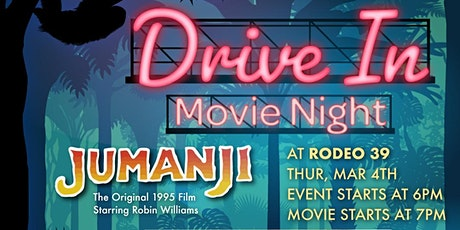 Drive In Movie Night - Jumanji at Rodeo 39 tickets