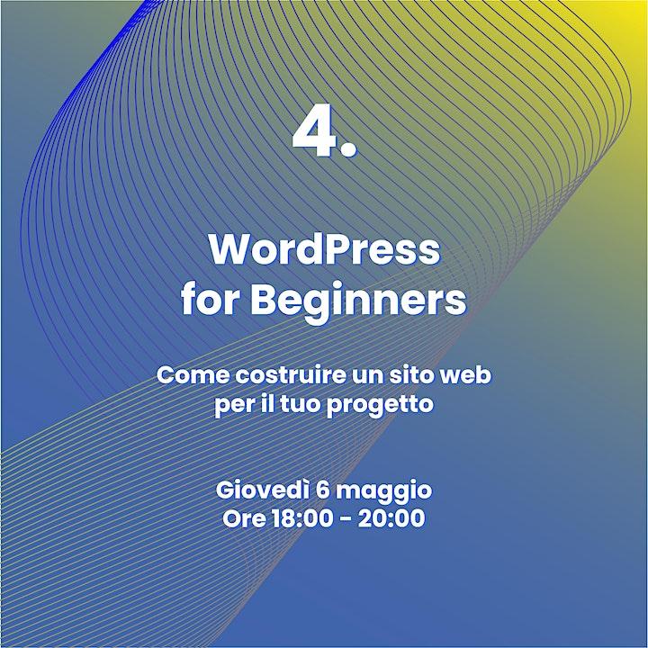 Immagine Competenze per l'Innovazione Sociale   4. Wordpress for Beginners