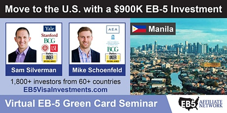 U.S. Green Card Virtual Seminar – Manila, Philippines tickets