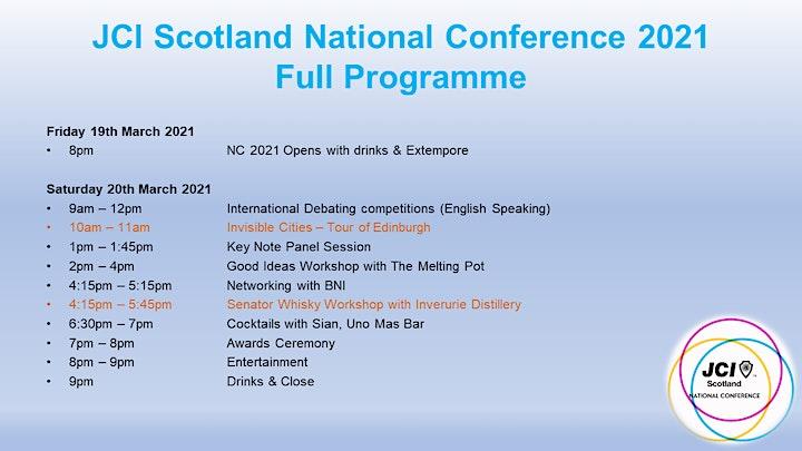 JCI Scotland National Conference 2021: The Story of Scotland image